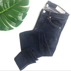 rag & bone high rise dark wash skinny jean